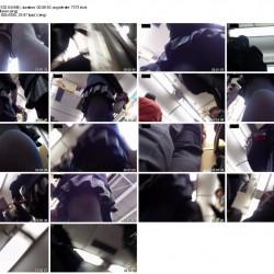 とある電車内でみつけた可愛すぎる現役JKに超接近しおぱんt覗き見