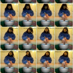 トイレに隠しカメラを設置したら幼顔の娘がオナニーしてたw