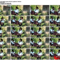 公園でシマシマパンツ♬超ミニなkちゃんのピンクp、他4作品